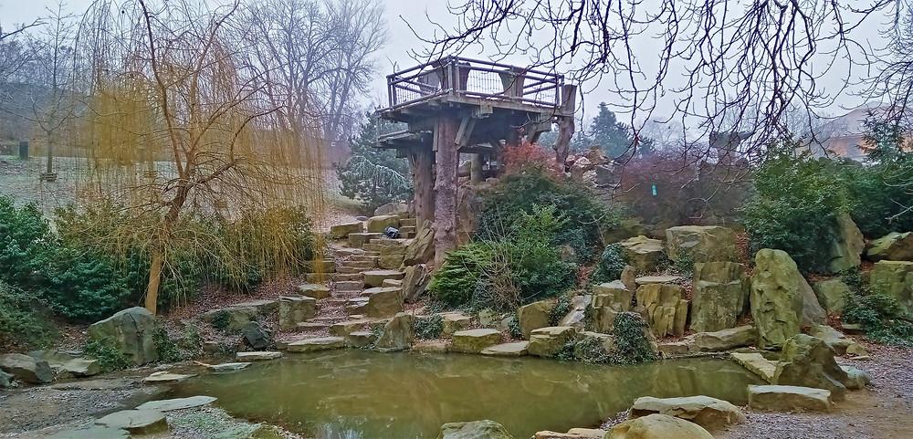 Vyhlídková plošina Keltské hradiště v parku Podviní