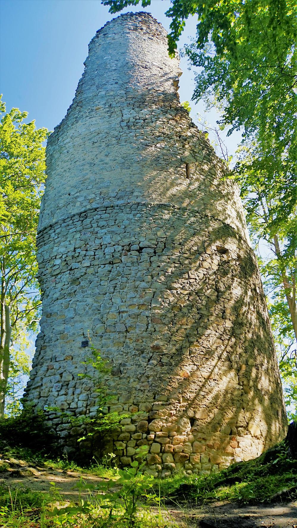 Bergfritová věž zříceniny Kaltenštejn
