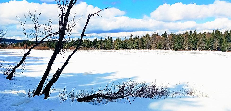 Sněhová pokrývka leží na východní části