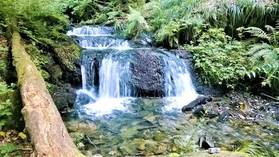 Spodní kaskáda vodopádů Stříbrného potok