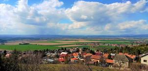 Pohled, který se stal inspirací pro sbírku Jiřího Wolkera Svatý Kopeček