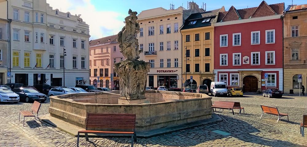 NKP Jupiterova kašna na Dolním náměstí je nejmladší z šesti olomouckých barokních kašen