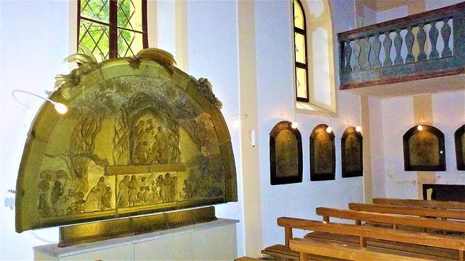 Interiér kostela svatého Vintíře v Dobré