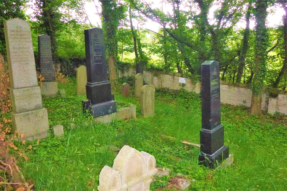Na novém židovském hřbitově ve Švihově (