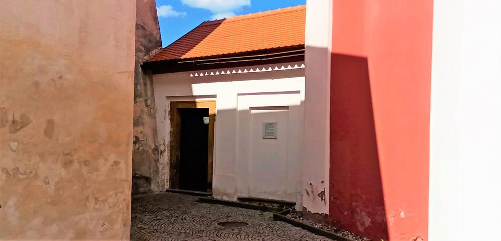 Pohled na kadaňské hradby