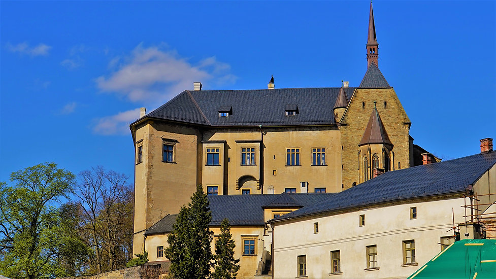 Národní kulturní památka hrad Šternberk v dubnu 2020