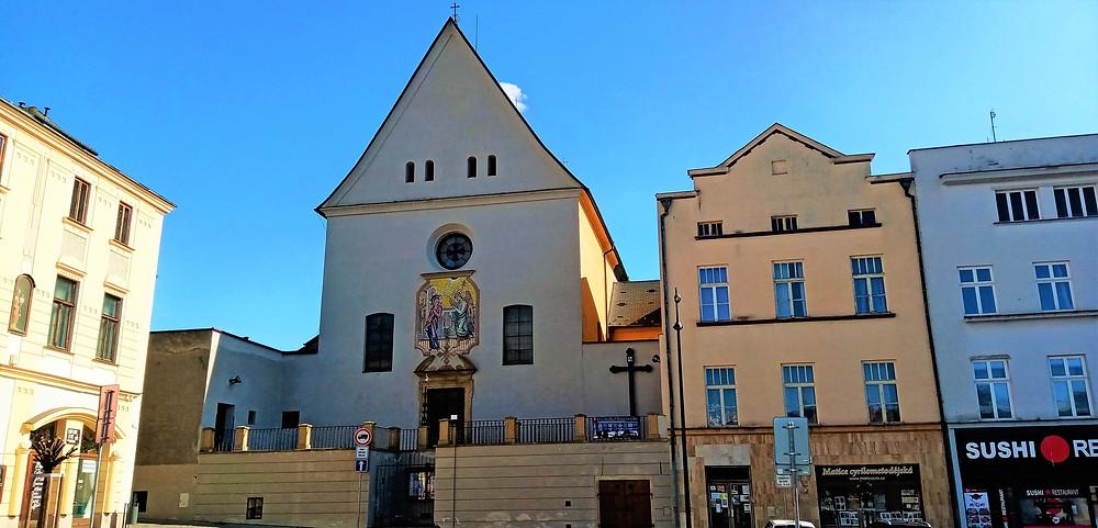 Kapucínská stavba kostela Zvěstování Páně v Olomouci