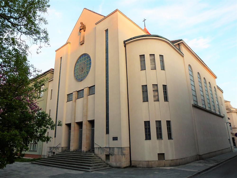 Husův sbor, bývalá Nový synagoga, v Prostějově