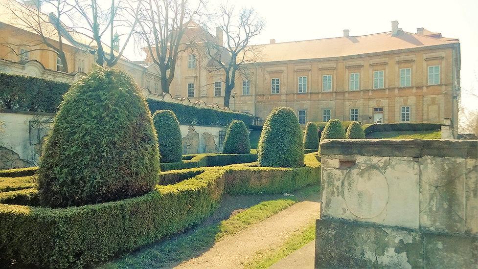 Pohled na zámek Duchcov z Knížecí zahrady
