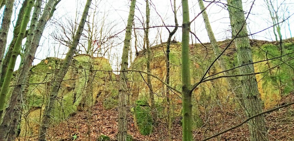 PP Vidoule je stolovou horou s pískovcovými skalami a jeskyněmi, kde do roku 1948 žila městská chudina