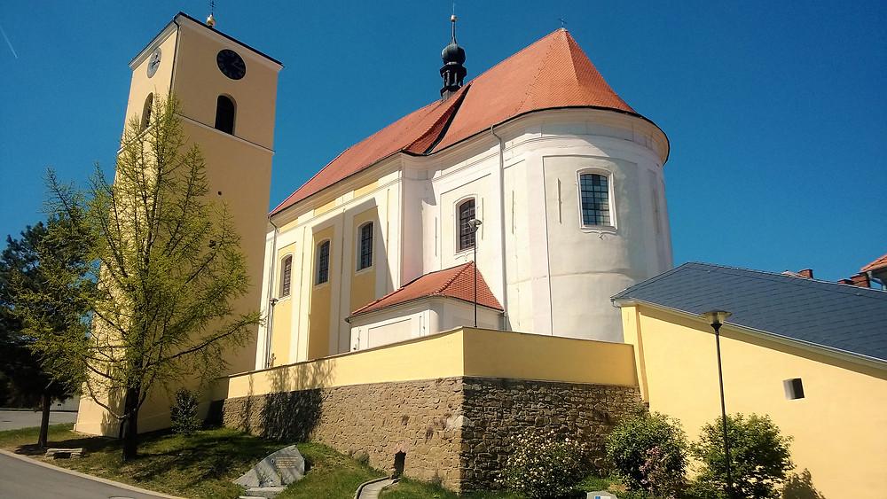 Poutní kostel svatého Jana Křtitele v Určicích