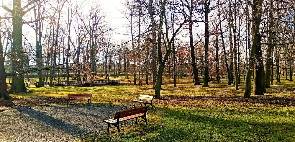 Zámecký park v Dolních Počernicích