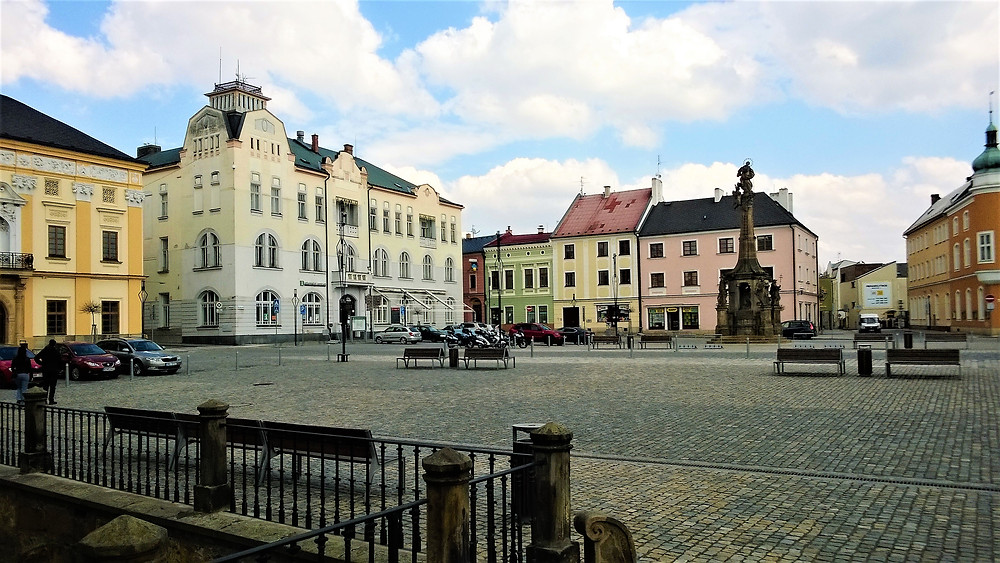 Morový sloup na náměstí v Litovli