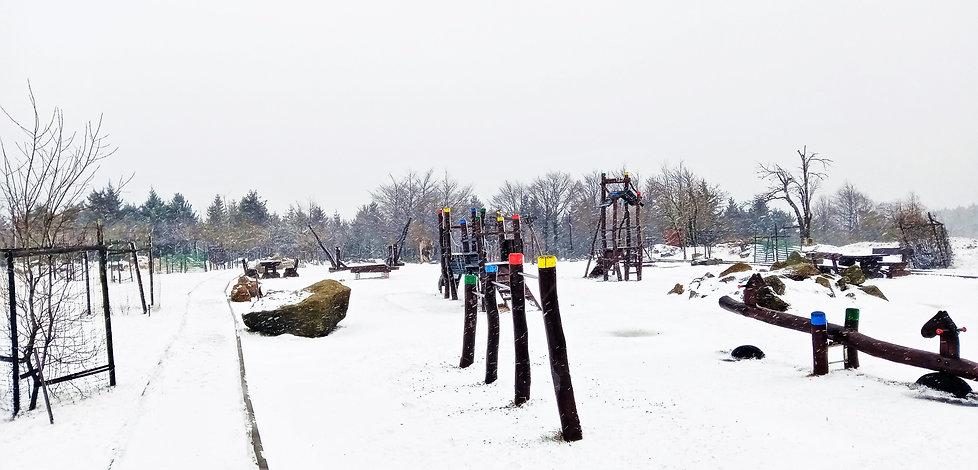 Geostezka, arboretum a dětské hřiště v