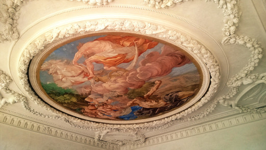 Freska na stropě na zámku Plumlov