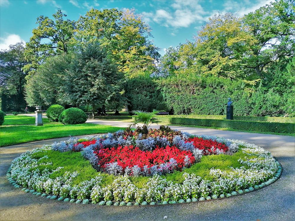 Centrální záhony v parku Michalov v Přerově