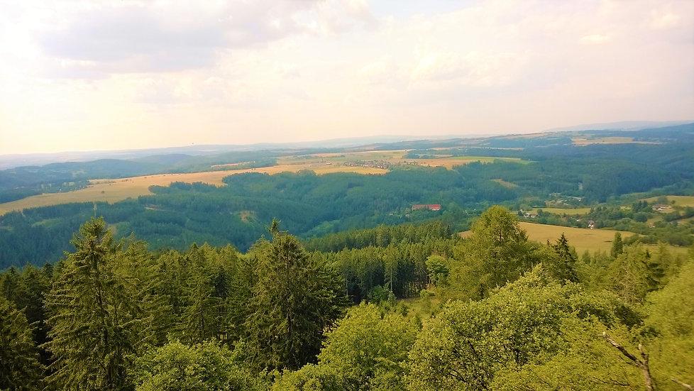Goetheova vyhlídka na Vlčí hoře nad Čern