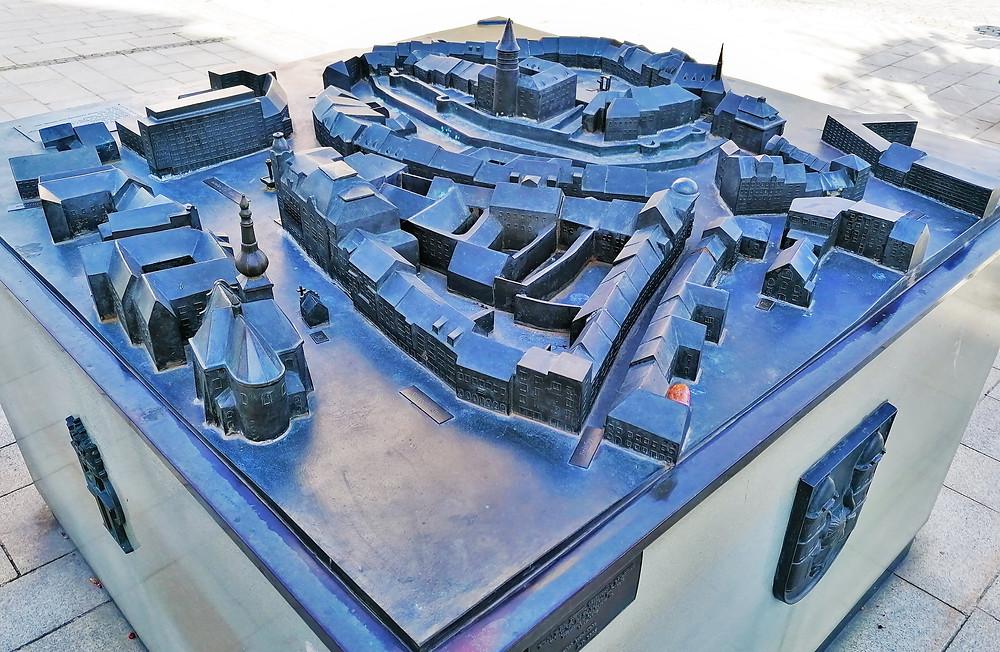 Bronzový model Přerova