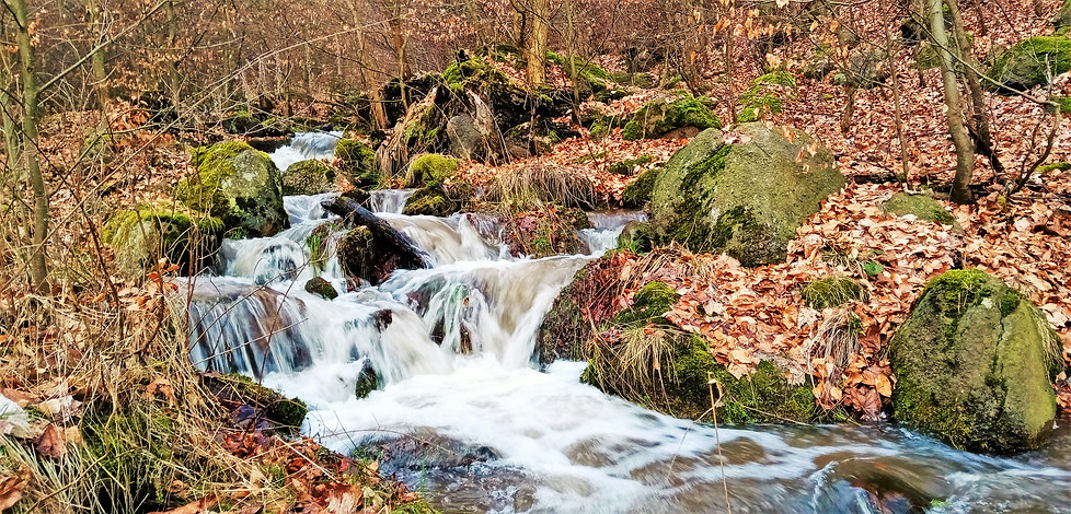 Albrechtický vodopád na Albrechtickém potoce