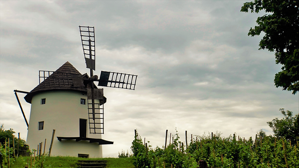 Větrný mlýn v chomutovském skanzenu
