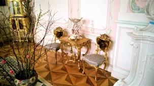 Detail Zlatého salonku na zámku v Náměšti na Hané