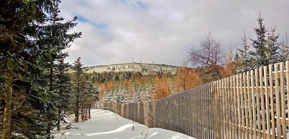 Nejvyšší bod okresu Most - vrch Loučná s