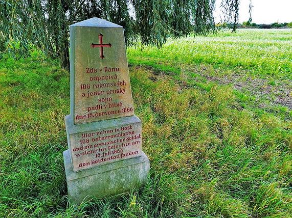 Pomník 108 rakouských a saských vojáků u tůně Bezedného dolu u Tovačova