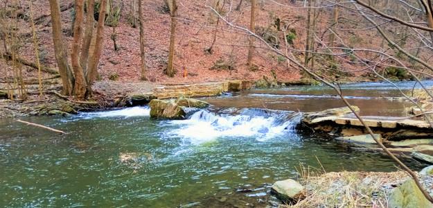 Vodopád na řece Bystřici