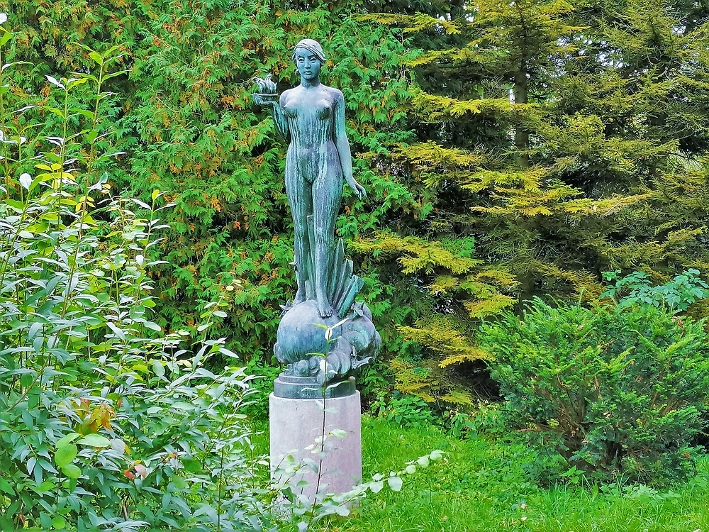 Socha Elektra v Přerově pochází z roku 1936