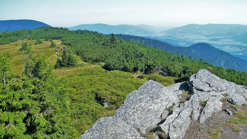 Vyhlídka nad Vřesovou studánkou přímo láká turisty ke krátkému odpočinku