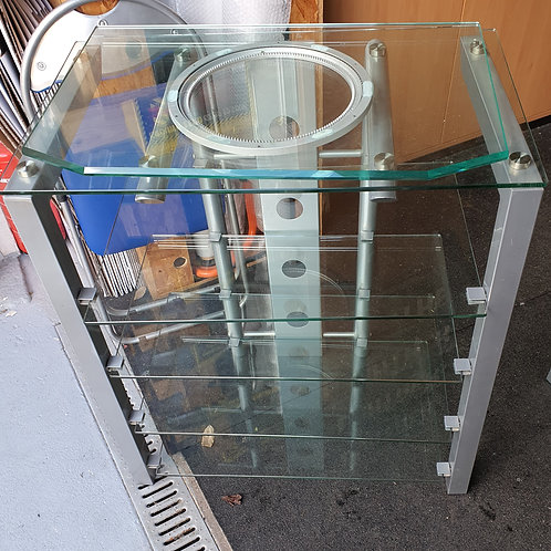 TV Glas Sideboard mit Drehscheibe