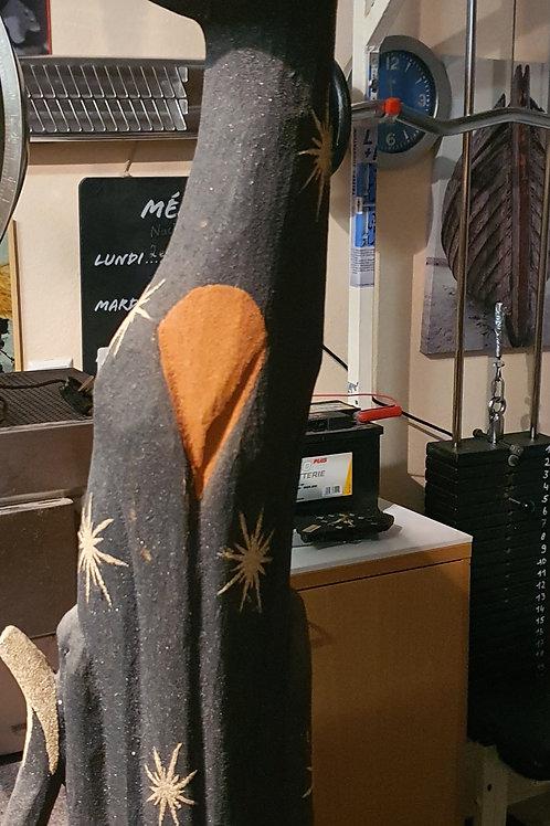 Katzen Holz Skulptur