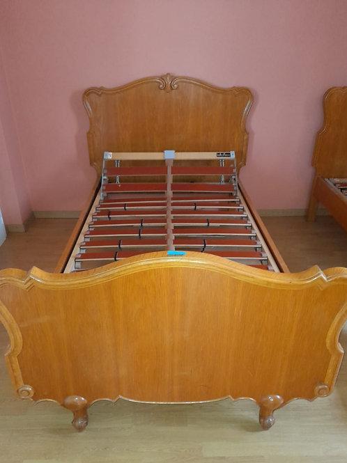 2x Vintage Einzelbett inklusiv Lattenrost