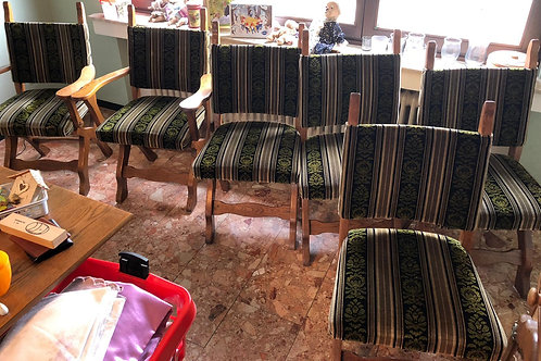 6 rustikale Esszimmerstühle