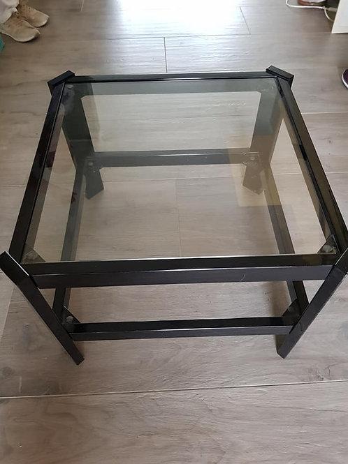 Glassofatisch mit 2 Ebenen