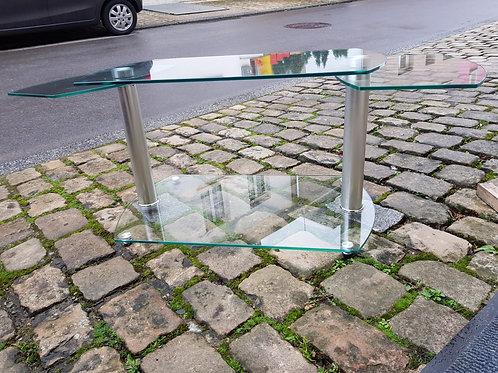Sofaglastisch -Seitenteile ausklappbar-