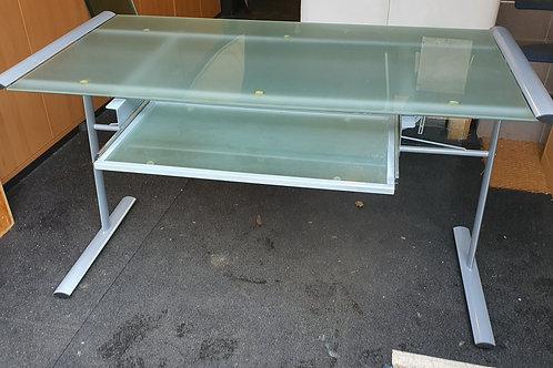 Bürotisch aus Glas