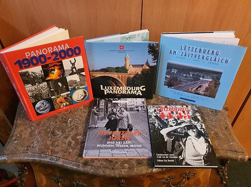 5er  Bücherset über Luxemburg