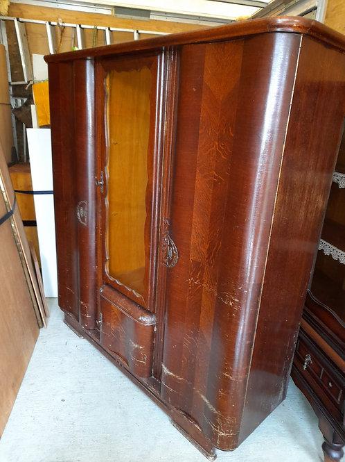 Kleiderschrank Antik mit 1 Glastür
