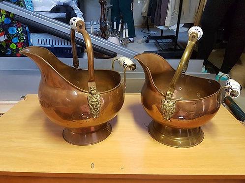 2 Blumenkübel aus Kupfer