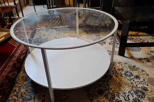 Sofatisch Rund mit Glasplatte