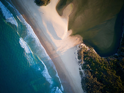 Aerial Photograph - Sea Meets Lake Currimundi (BtT Production)