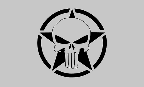 Punisher Start Hood Decal