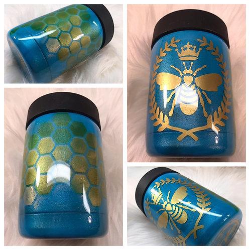 Queen B can/bottle koozie
