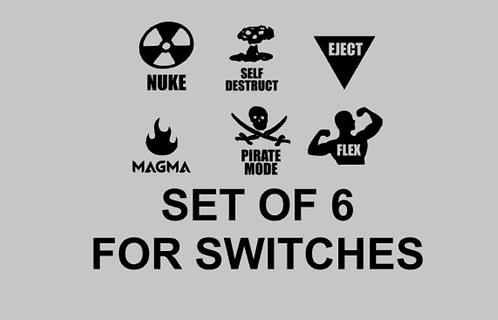 Set of 6 Switch Decals