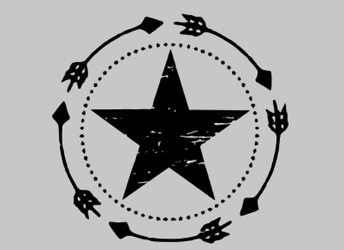 Star With Arrows Hood Decal