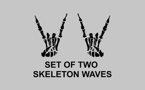 Skeleton Waves Set of 2