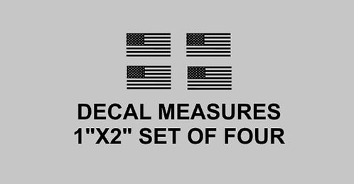 Flag Vent Decals Set of 4