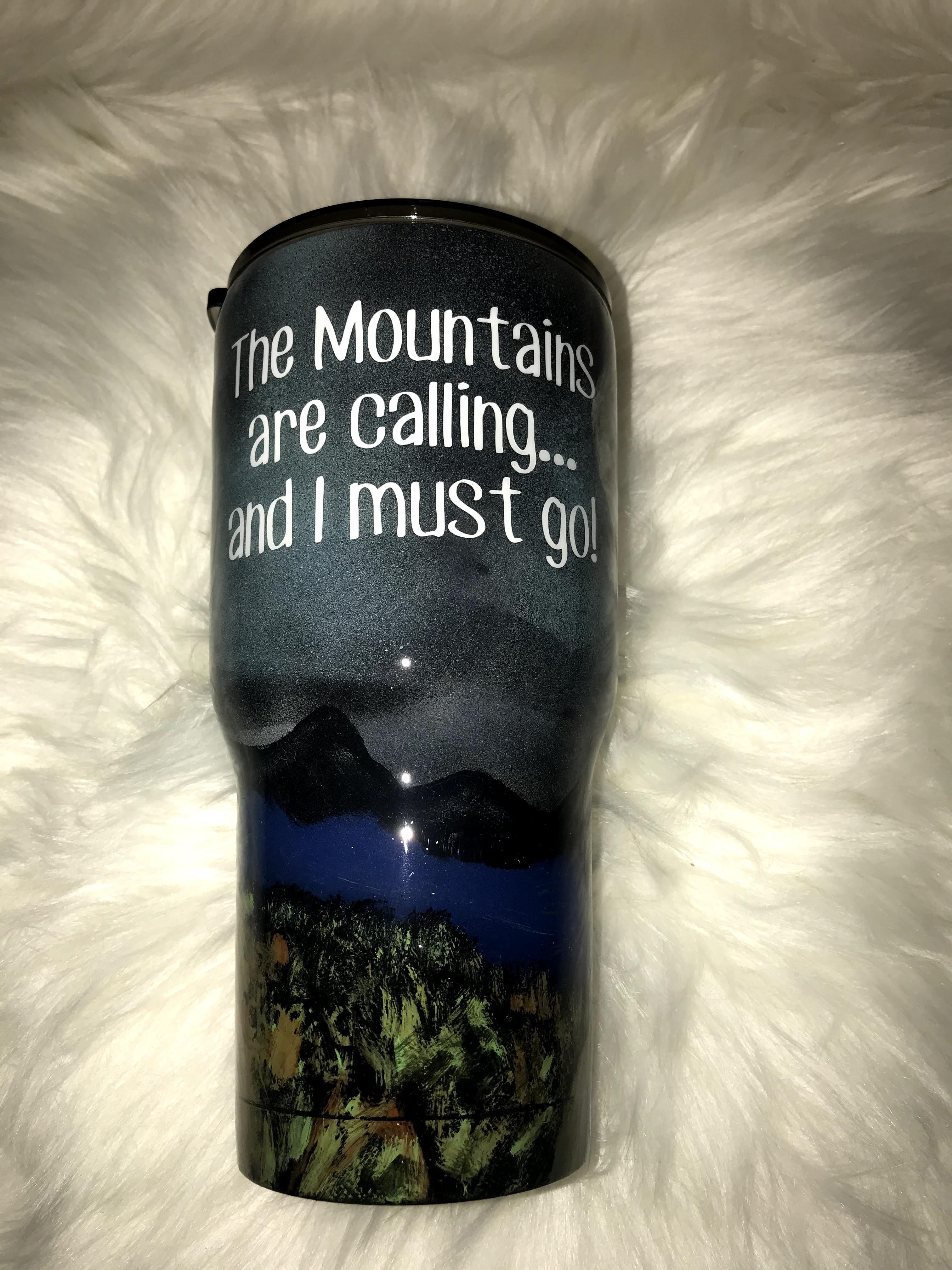 Thumbnail: 30 oz The Mountains are Calling