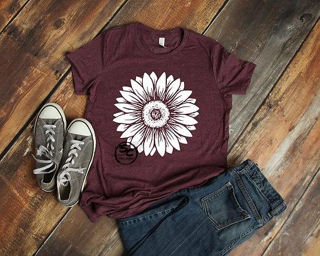 White Sunflower Tshirt